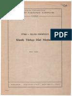klasik türkçe dini metinler