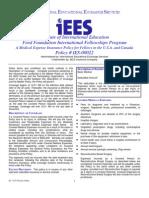 IIE Brochure (Ford Intl Fellow) & Medex 1-1-07