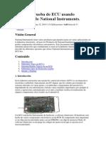 Diseño y Prueba de ECU usando Productos de National Instruments