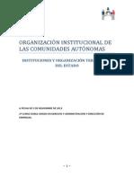 ORGANIZACIÓN INSTITUCIONAL DE LAS COMUNIDADES AUTÓNOMAS