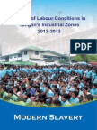 Modern Slavery :Study of Labour Conditions in Yangon's Industrial Zones