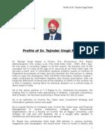 Dr Tejinder Singh Rawal Icai