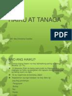 Haiku at Tanaga