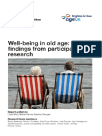 Well Being in Old Age
