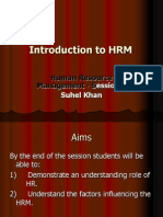 Introduction to HRM Lecture