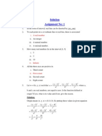 Calculus of Multivariable - Solved Assignments - Semester Spring 2008