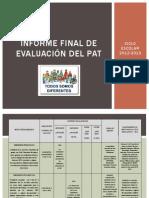 INFORME FINAL DE EVALUACIÓN DEL PAT 2012 2013