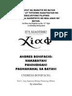 Andres Bonifacio Ang Punong Militar