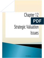 strategic valuation issues
