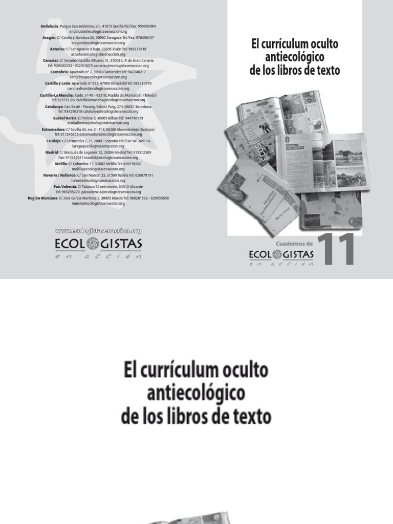 Ecologistas En Acción - Curriculum oculto antiecologico en los ...