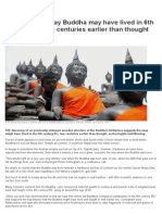 Archaelogists Say Buddha May Have Lived in 6th Century BC, Two Centuries Earlier Than Thought _ News.com