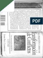 Lederach, J.P. - El pequeño libro de la transformación de conflictos