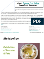 Fat Protein Metabolism Biology Lecture PowerPoint VCBC