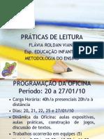PRÁTICAS DE LEITURA- Apresentação