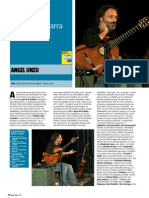 "ANGEL UNZU ""Total, con una guitarra"" (Revista Guitarra Total)"