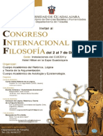 Congreso Internacional de Filosofía UDG 2013  2-7 diciembre 2013