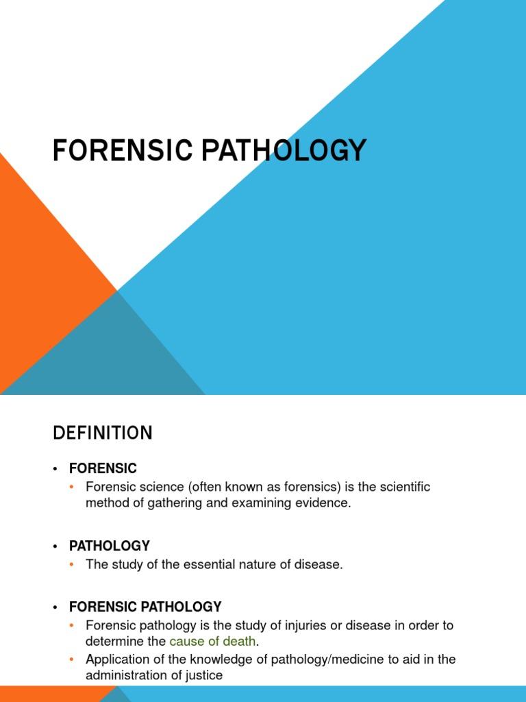 Forensic Pathology Forensic Science Pathology