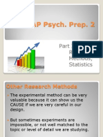 AP Psych Prep 2 (Part II) - More Methods, Statistics