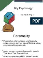 AP Psych Prep 10 - Personality Psychology