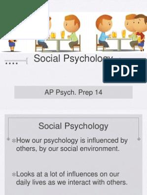 AP Psych Prep 14 - Social Psychology | Prejudices | Attitude