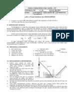 1ª prática - Obtenção e Propriedades do HIDROGÊNIO.doc