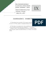 Clasa a IX-a