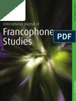 International Journal of Francophone Studies