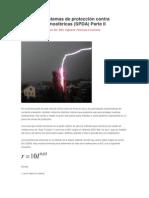 Diseño de Sistemas de protección contra descargas atmosféricas II