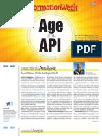 "InformationWeek ""Age of API"" November 2013"