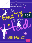 Erin Lawless - The Best Thing I Never Had