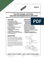 Amplificador de Aislamiento Inductivo Burr-Brown ISO213 Burr