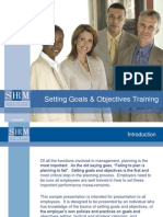 2008 Setting Goals and Objectives Training
