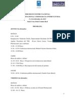 """Programa 3er. Encuentro Nacional """"Estado Plurinacional y Democracia Intercultural en Bolivia"""""""
