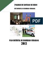 Plan Distrital SC 2013 Peru Seguirdad Ciudadana