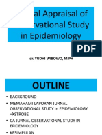 Critical Appraisal of Epidemiological Study