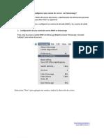 Cómo configurar una cuenta de correo  en Entourange
