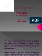 Post-colonial Poetry Analysis
