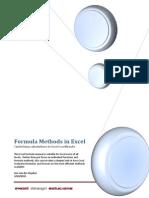 Formula Methods in Excel
