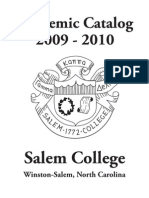 Salem College Undergraduate Academic Catalog 2009-10