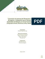 Concreción de acciones del Mecanismo Conjunto de Mitigación y Adaptación para el Manejo Integral y Sustentable de Bosques, en los territorios priorizados - Chiquitanía Norte, Norte de La Paz, Pando y Riberalta