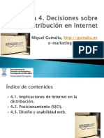 Tema 4. Decisiones sobre distribución en Internet