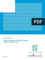 Public Perceptions on Gender Equality in Politics and Business