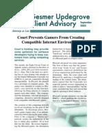 Gesmer Updegrove Client Advisory - Blizzard v. Jung
