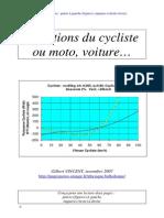 Equations Cycliste