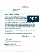 Reassignment letter