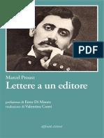 Lettere a Un Editore. Ediz. Italiana E Francese - Marcel Proust