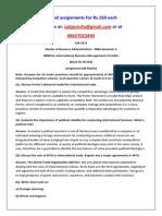 MB0053–International Business Management