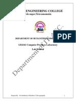 Ge6161 Lab Manual