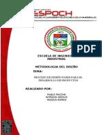 PROCESO DE DISEÑO FASES PARA EL DESARROLLO DE PRODUCTOS