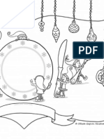 elf place setting 8.5x11 colouring page